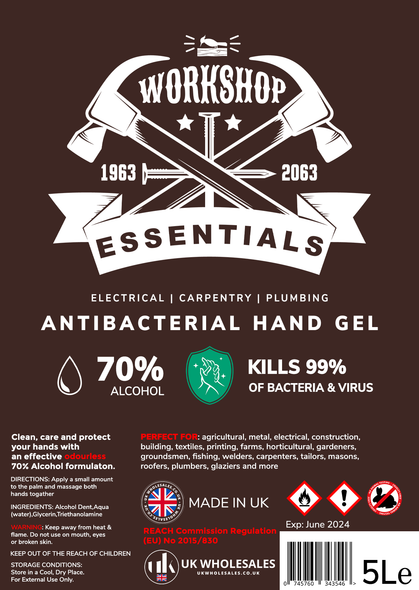 Workshop Essential Antibacterial Hand Gel 1L