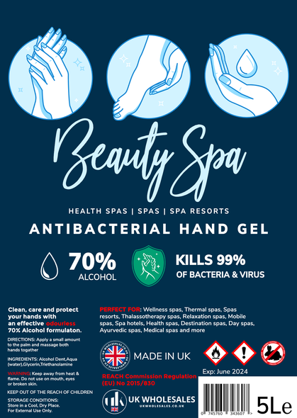 Beauty Spa Antibacterial Hand Gel 500ml