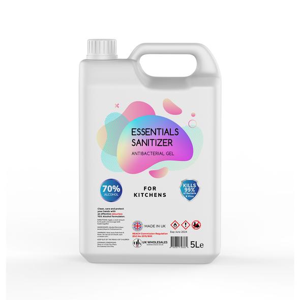 Essentials Sanitizer Antibacterial Hand Gel 5L
