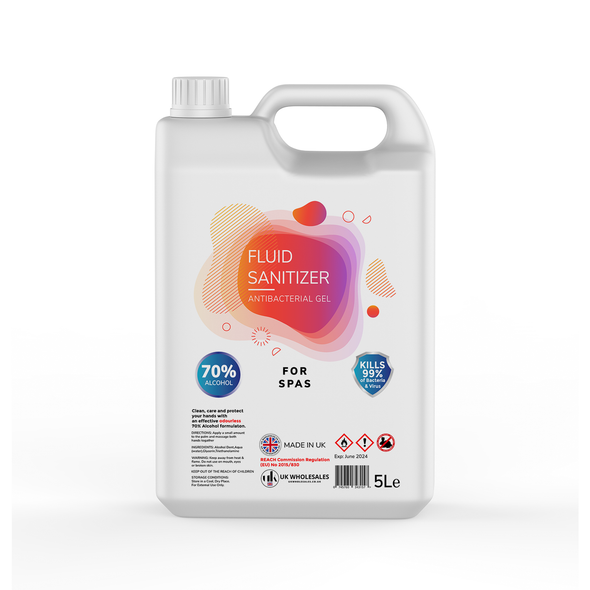 Fluid Sanitizer Antibacterial Hand Gel 5L