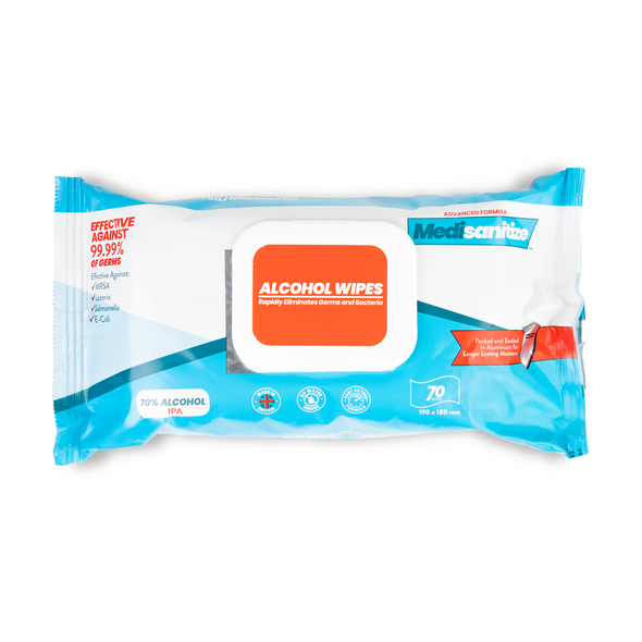 Medisanitize 70% Isopropyl Alcohol Wipes - 70 pcs