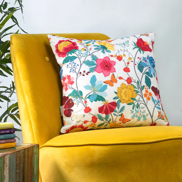 Celina Digby Opulent Velvet Cushion - Midsummer Morning