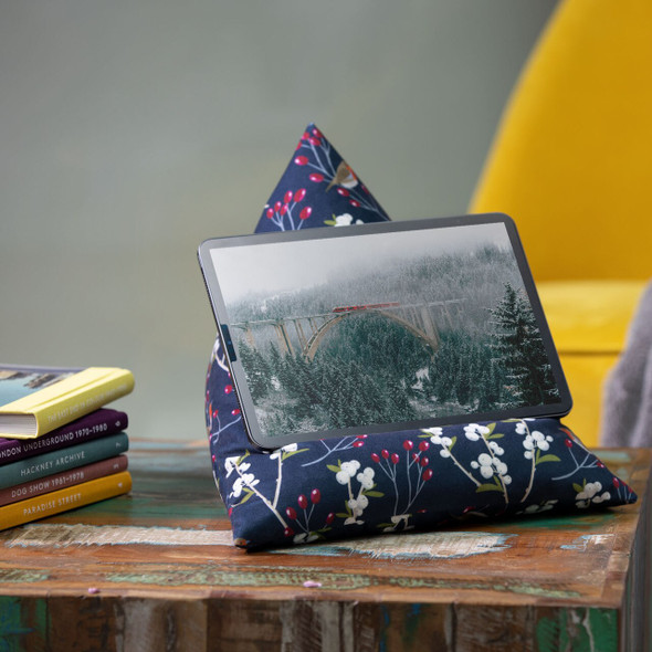 Celina Digby Tablet Beanbag - Robin & Berries Navy
