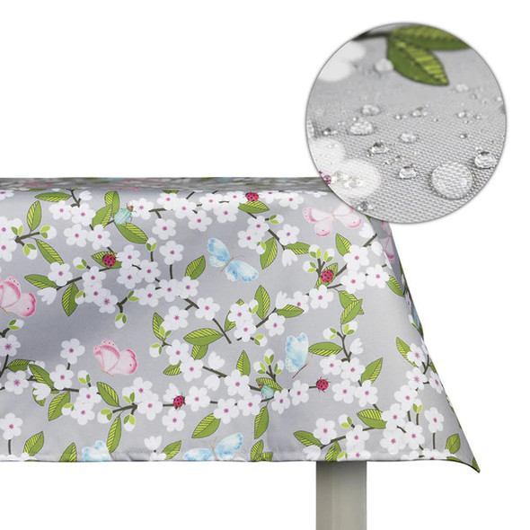 Celina Digby Indoor Tablecloths - Cherry Blossom Grey