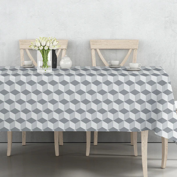 Celina Digby Indoor Tablecloths - Cube Grey