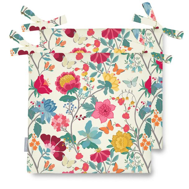 Celina Digby Water Resistant Garden Seat Pads - Midsummer Morning
