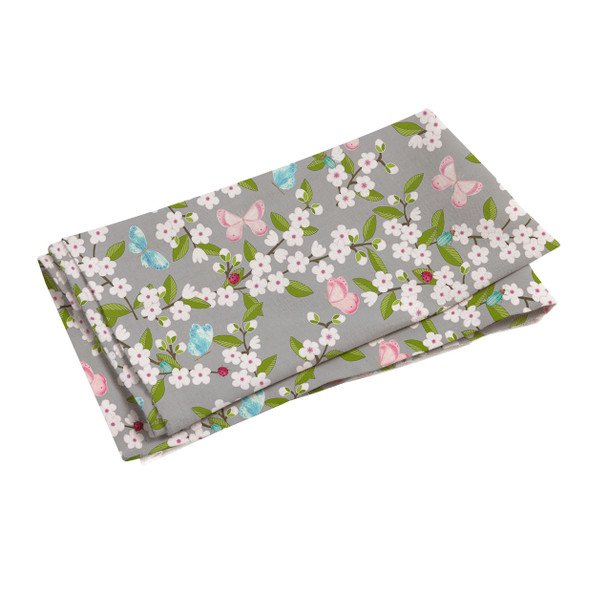 Celina Digby Waterproof Tablecloth WITH HOLE for Umbrella / Parasol - Cherry Blossom Grey