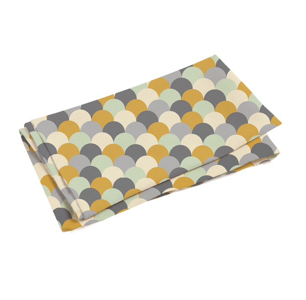 Celina Digby Waterproof Tablecloth WITH HOLE for Umbrella / Parasol - Scandi Hills Mustard