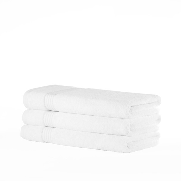 Premium Bamboo Collection Bath Towels - 700 GSM Super Soft (White)