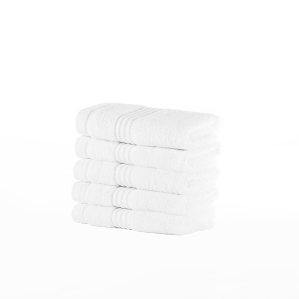Premium Bamboo Collection Face Cloths - 700 GSM Super Soft (White)