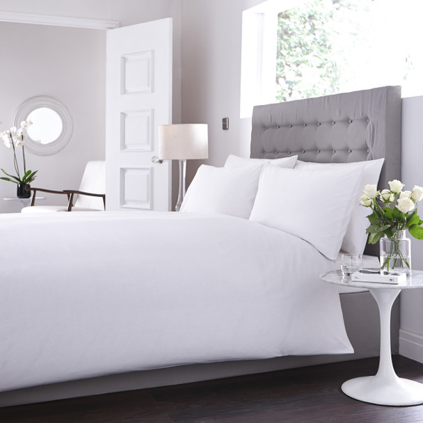200 Thread Count, 80/20  Cotton Rich Percale Bed Linen - Full Range