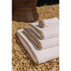 Luxury Heritage Ambassador Towels with Taupe Border- 650 GSM