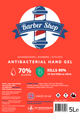 Barber Shop Antibacterial Hand Gel 1L