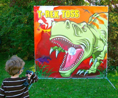 T-Rex Toss Frame Game
