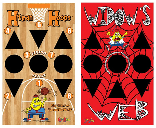 BeanBagglz Boardz, Hitman Hoops - Widow's Web