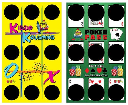 BeanBagglz Boardz, Kiddo Kolumns - Poker Pass