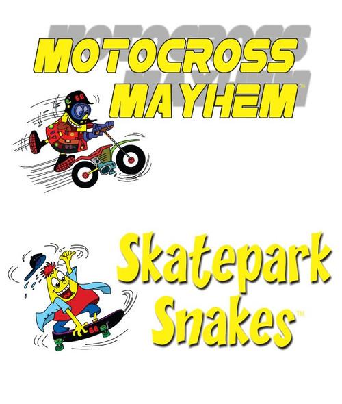 BeanBagglz Boardz, Motocross Mayhem - Skatepark Snakes