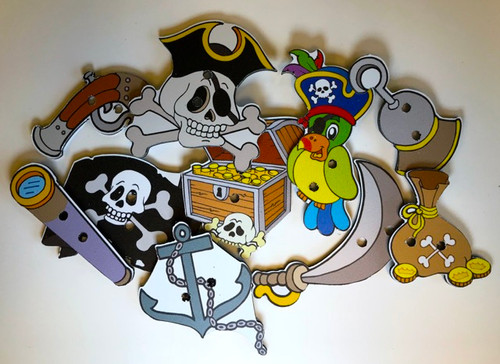 Pirate Treasure Game Pieces, Full Set