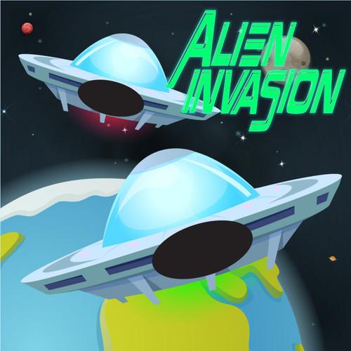 Alien Invasion Canvas