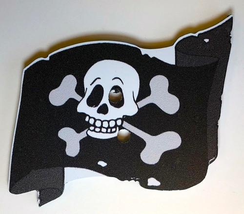 Pirate Treasure Game Piece, Flag