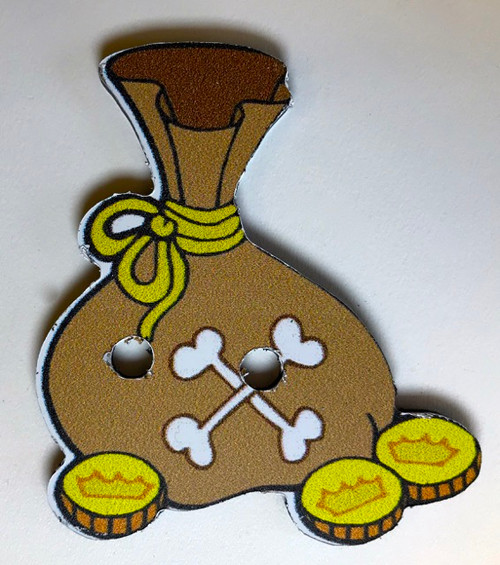 Pirate Treasure Game Piece, Gold