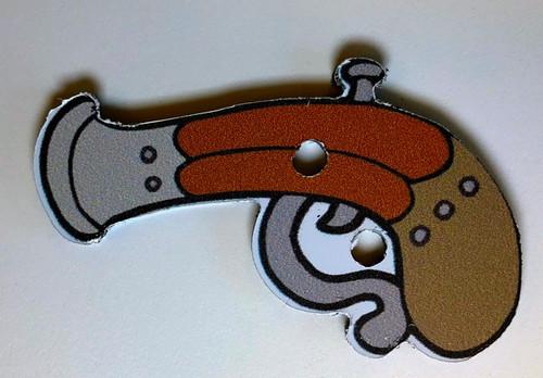 Pirate Treasure Game Piece, Pistol