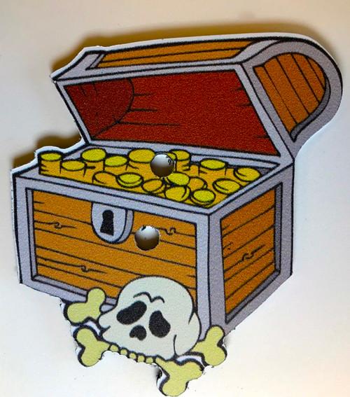 Pirate Treasure Game Piece, Treasure Chest