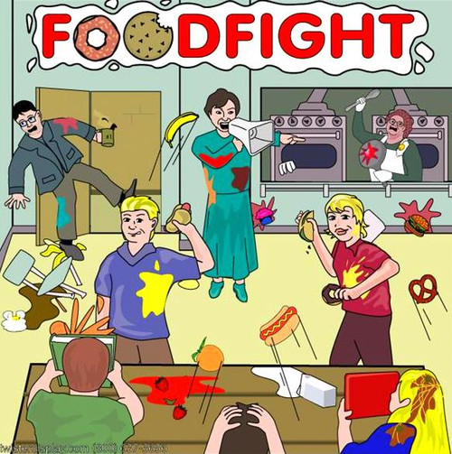 Food Fight Canvas