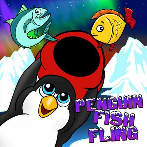 Penguin Fish Fling Canvas