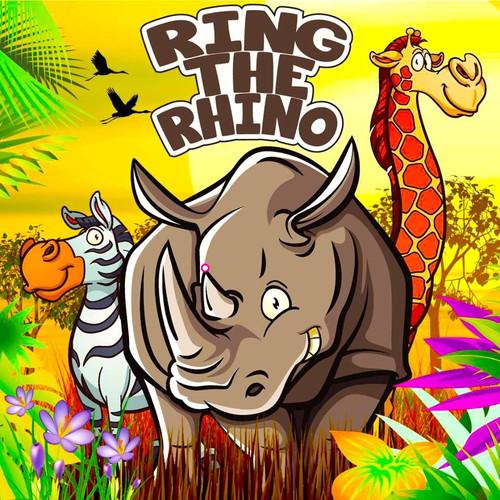 Ring the Rhino Canvas