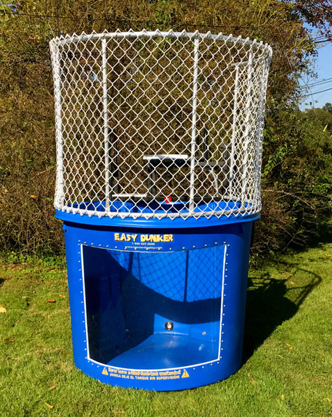 Professionally manufactured dunk tank.