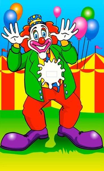 Canvas Dunk Tank Clown