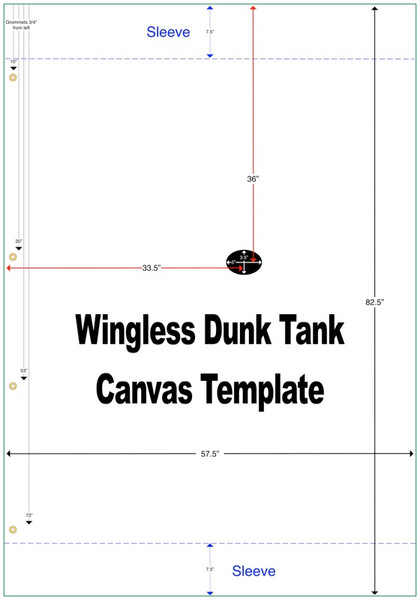 Canvas Dunk Tank, Custom