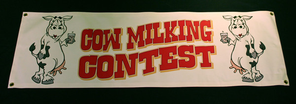Cow Milking Contest Banner