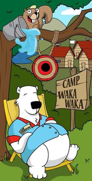 Big Splash/Slime Machine Camp Waka Waka Canvas