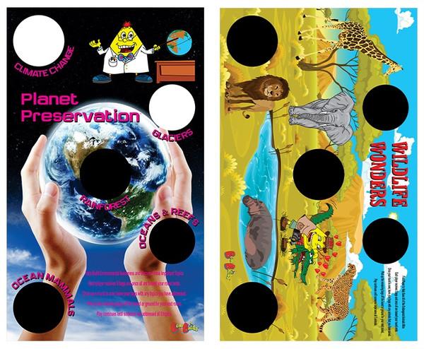 BeanBagglz Boardz, Planet Preservation - Wildlife Wonders