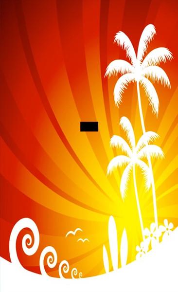 Canvas Dunk Tank Tropical Palm Trees