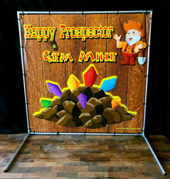 Happy Prospector Gem Mine, Backdrop Kit