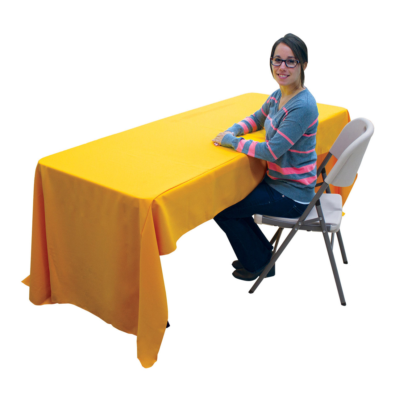 "6' Economy Table Throw (Full-Color Front Only)Product Size: 72"" W x 28"" H x 30"" D"
