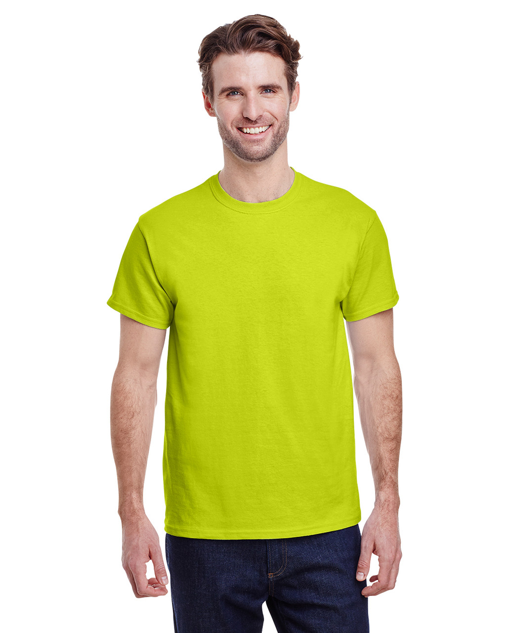 GILDAN - Heavy Cotton 100% Cotton T-Shirt - 5.3 oz. -INCLUDES Front & Back Imprinted in One Color Ink