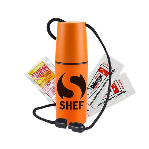 Swim-Ease - Neck Tote Sun Kit - Waterproof tote contains one sunscreen and two Blistex packets Custom Kits Available - Call for Pricing This item is not appropriate for children 14 years or younger without parental supervision