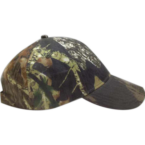Add Your Logo to Woodsman Camo Print Break Up Camouflage Cap - CF6147