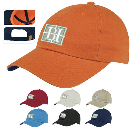 Add Your Logo to Washed Chino Cap - 45056