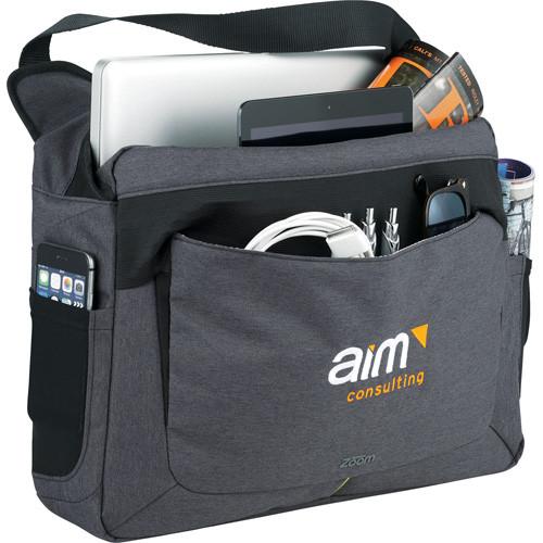 """Zoom™ Power Stretch 15"""" Compu-Messenger Bag - 0022-54"""