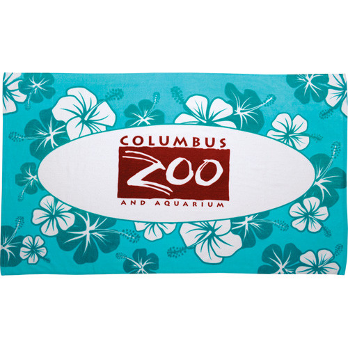 12lb./doz. Hibiscus Pattern Beach Towel - 2090-28