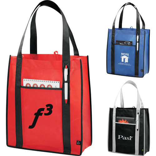 PolyPro Non-Woven Contrast Carry-All Tote - 2150-44