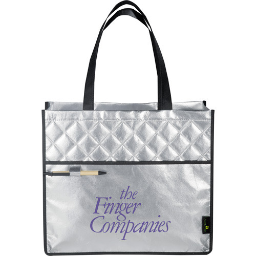 Laminated Non-Woven Quilted Carry-All Tote - 2160-08