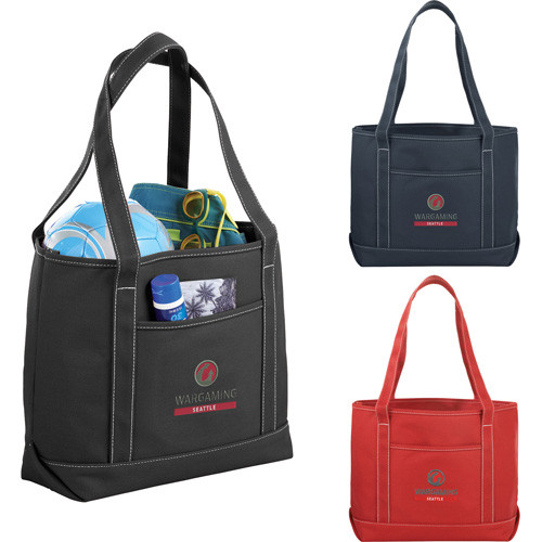 Heavy Weight Color Cotton Boat Tote - 7900-57