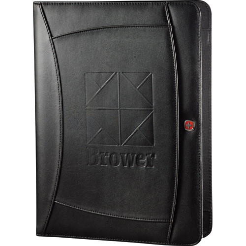 "Wenger® Writing Pad - Black (BK) - 13"" H X 9.88"" W X 0.75"" D"