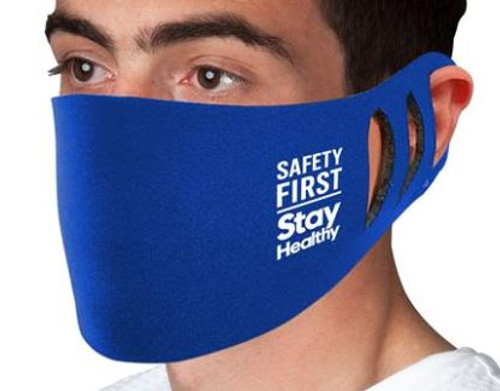 Stretchable Polyester Face Mask- Minimum 250 Pieces- $55.00 Set-up-1 Color-1 Location